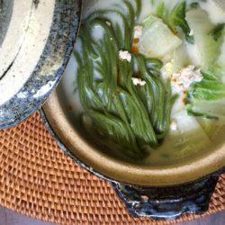 豆乳鍋withわかめ麺